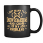 Black Mug-I Just Want To Go Snowboarding And Ignore All Of My Adult Problems ccnc004 sw0011