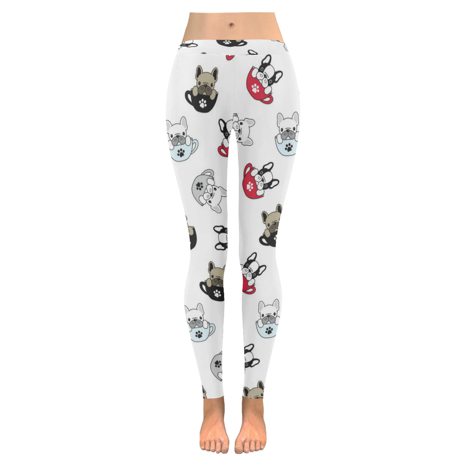 French bulldog cup paw pattern Women's Legging Fulfilled In US
