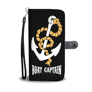 Awesome Wallet Case - Boat Captain Black ccnc006 bt0202