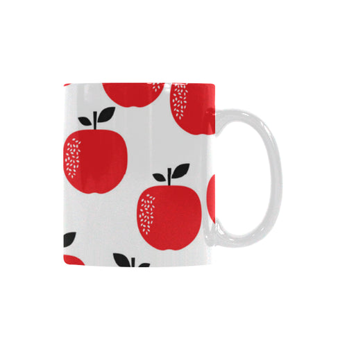 red apples white background Classical White Mug (Fulfilled In US)