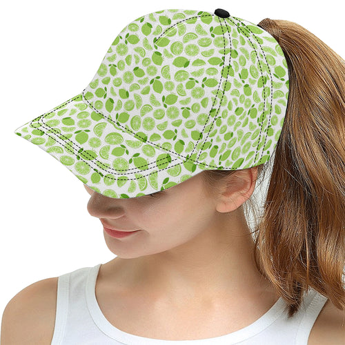 Lime design pattern All Over Print Snapback Cap