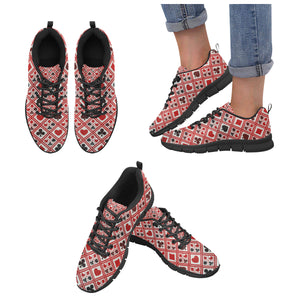 Casino Cards Suits Pattern Print Design 03 Women's Sneaker Shoes