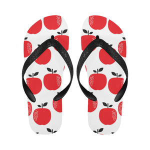 red apples white background Unisex Flip Flops