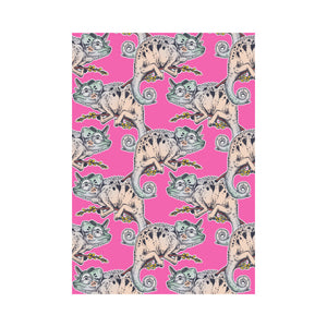 Chameleon lizard pattern pink background House Flag Garden Flag