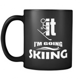 Black Mug-F..k it I'm Going Skiing ccnc005 sk0018