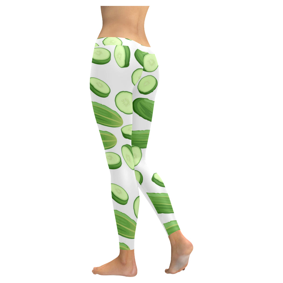 cucumber whole slices pattern Women's Legging Fulfilled In US