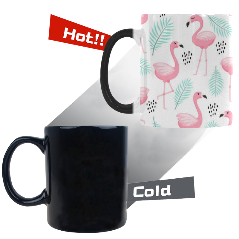 Cute flamingo pattern Morphing Mug Heat Changing Mug