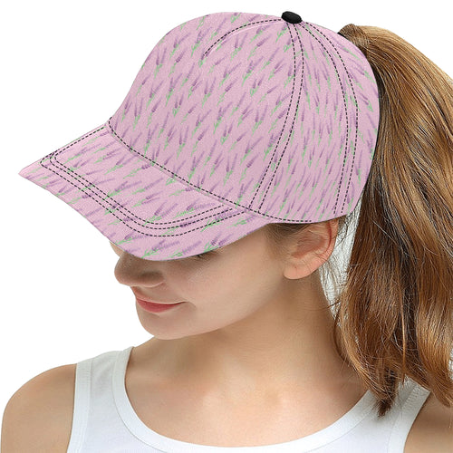 Lavender pattern pink background All Over Print Snapback Cap