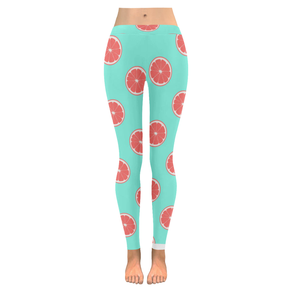 Grapefruit green background Women's Legging Fulfilled In US