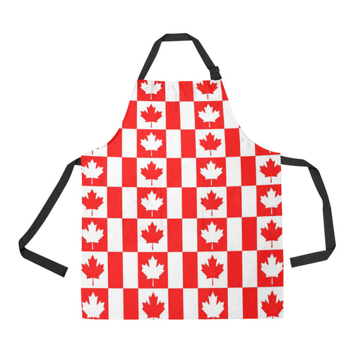 Canada Pattern Print Design 05 All Over Print Adjustable Apron