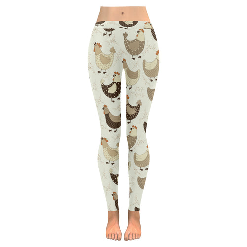 Cute rooster chicken cock Women's Legging