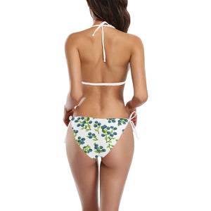 blueberry white background Sexy Bikinis Two-Piece Swimsuits