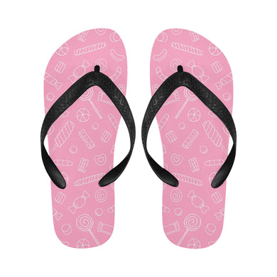 Sweet candy pink background Unisex Flip Flops
