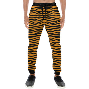 Bengal tigers skin print pattern background Unisex Casual Sweatpants