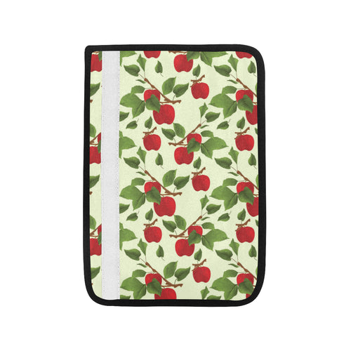 Red apples leaves pattern Car Seat Belt Cover