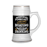 Beer Stein-Weekend Forecast Boating With a Chance of Drinking ccnc006 bt0014