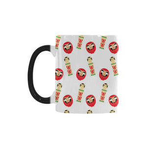 Daruma japanese wooden doll Morphing Mug Heat Changing Mug
