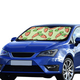 Carrot Pattern Print Design 05 Car Sun Shade