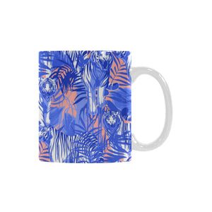 white bengal tigers pattern Classical White Mug (Fulfilled In US)