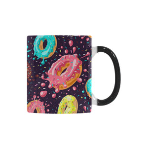 Colorful donut glaze pattern Morphing Mug Heat Changing Mug