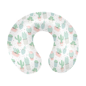 Pastel colorcactus pattern copy U-Shaped Travel Neck Pillow