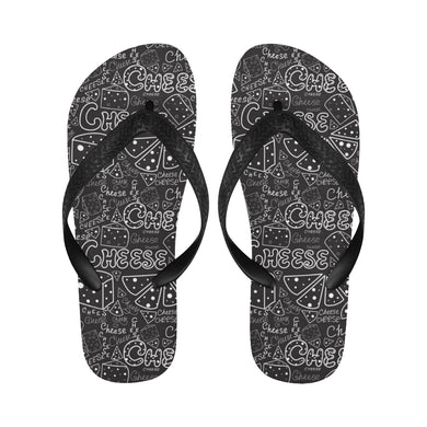 Handwritten cheese pattern Unisex Flip Flops