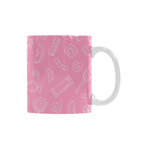 Sweet candy pink background Classical White Mug (Fulfilled In US)
