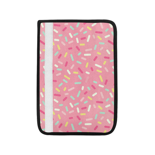 Pink donut glaze candy pattern Car Seat Belt Cover