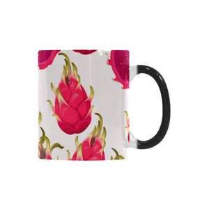 dragon fruits design pattern Morphing Mug Heat Changing Mug