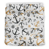 Anchors Rudders Pattern  Bedding Set