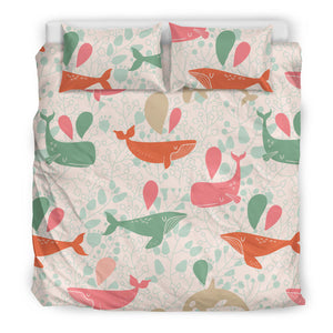 Cute Whale Pattern Bedding Set