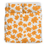 Orange Maple Leaf pattern Bedding Set