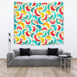 Colorful Moon Pattern Wall Tapestry