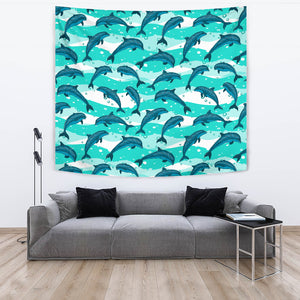 Dolphin Sea Pattern Wall Tapestry