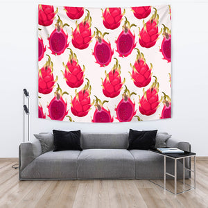 Dragon Fruits Design Pattern Wall Tapestry