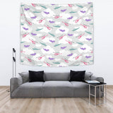 Helicopter Plane Pattern Wall Tapestry