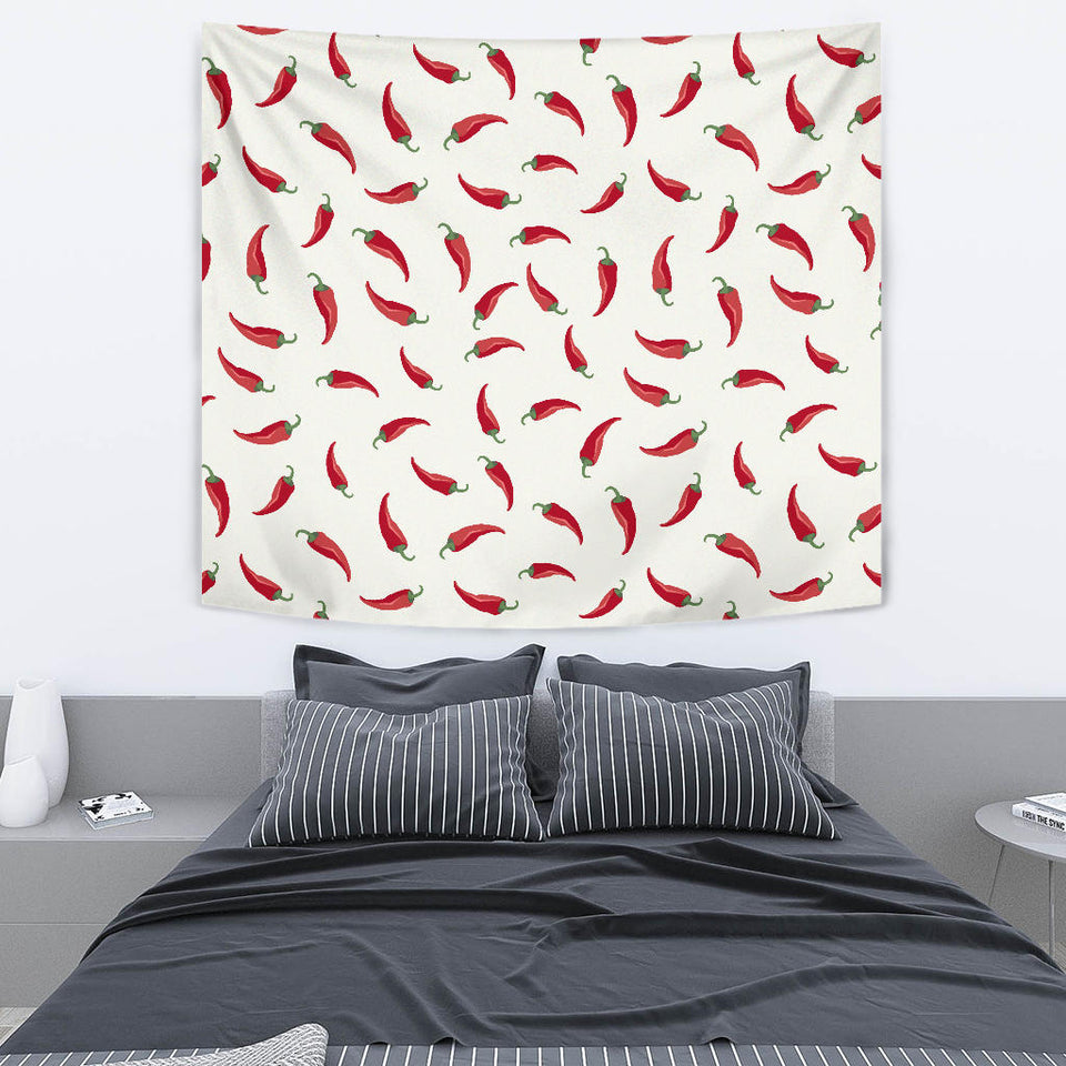 Chili Peppers Pattern Wall Tapestry