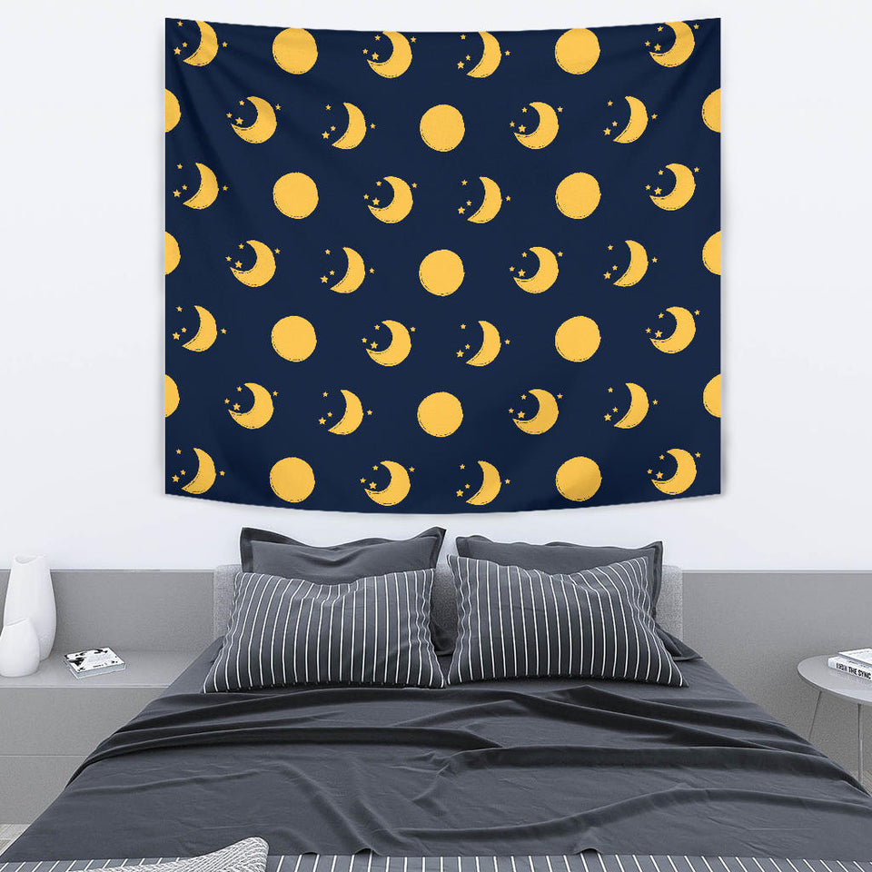 Moon Star Pattern Wall Tapestry