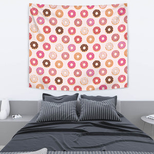 Colorful Donut Pattern Wall Tapestry
