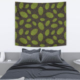Hop Pattern Black Background Wall Tapestry