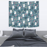Cute Rabbit Pattern Wall Tapestry