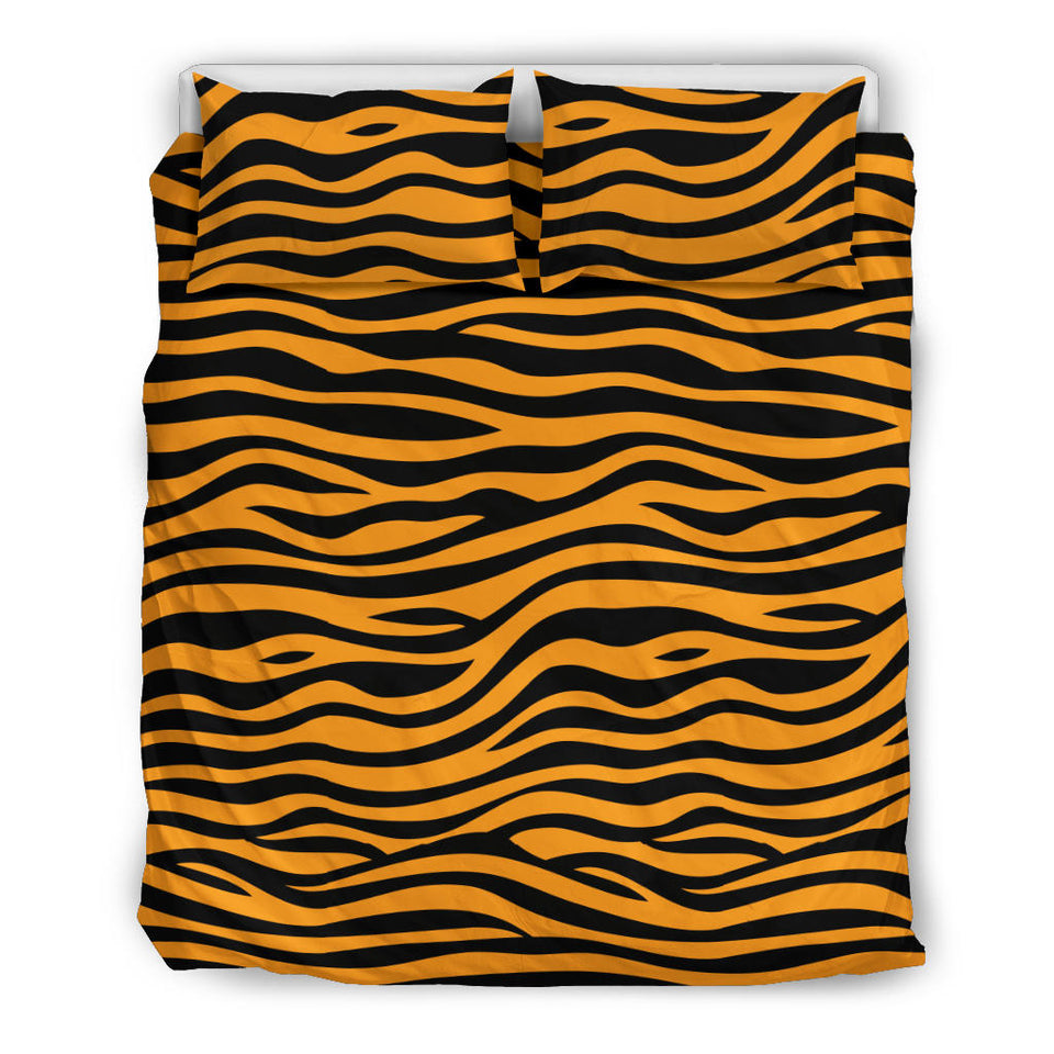 Bengal Tigers Skin Print Pattern Background  Bedding Set