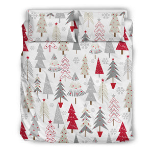 Cute Christmas Tree Pattern  Bedding Set