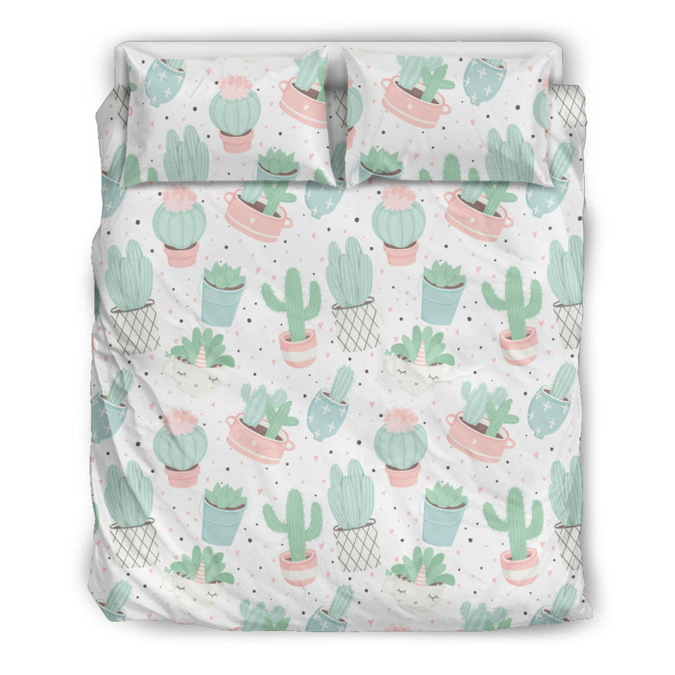 Pastel color cactus pattern   Bedding set