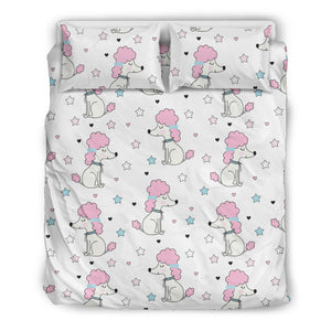 Cute Poodle Dog Star Pattern Bedding Set