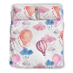 Watercolor air balloon cloud pattern Bedding Set
