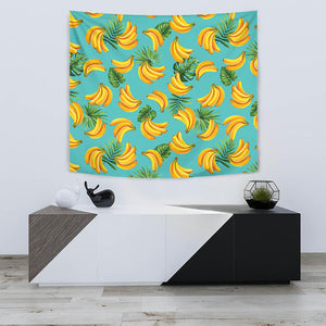 Banana Palm Leaves Pattern Background Wall Tapestry