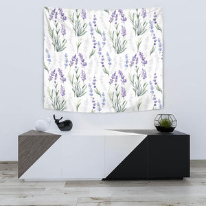 Hand Painting Watercolor Lavender Wall Tapestry