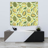 Durian Leaves Pattern Background Wall Tapestry
