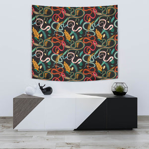 Colorful Snake Plant Pattern Wall Tapestry